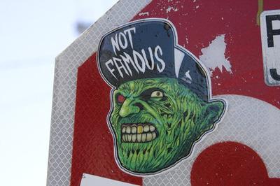 Wstreet art sticker in Berkeley