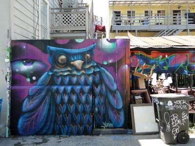 erin Yoshi on Cypress alley in San Francisco