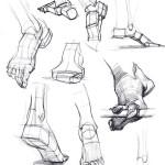 kresba nohy navod