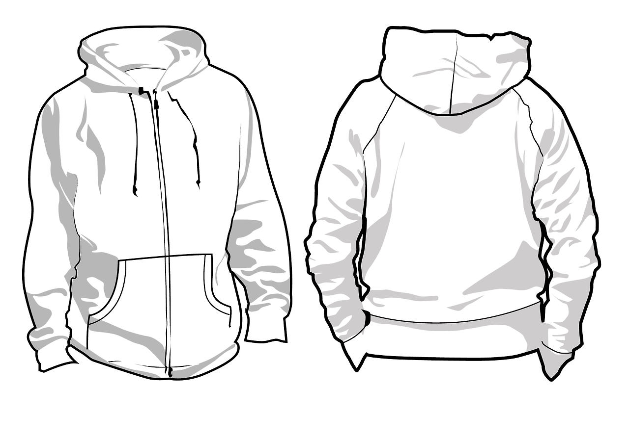 drawing sweatshirt hoodie sketch coloring page