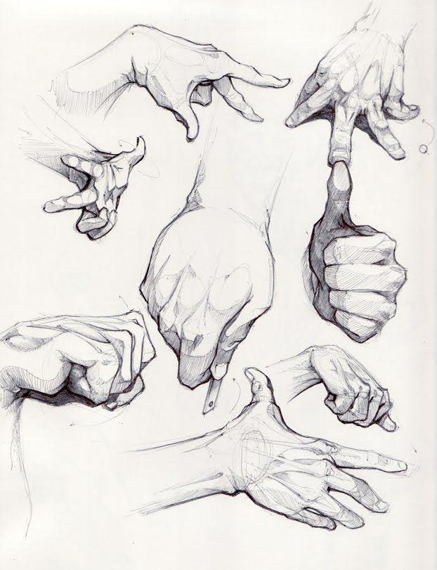 kreslenie ruky. ako kresliť ruku. nauč sa kresliť ruku