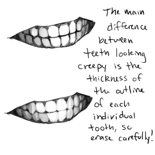 kreslené zuby