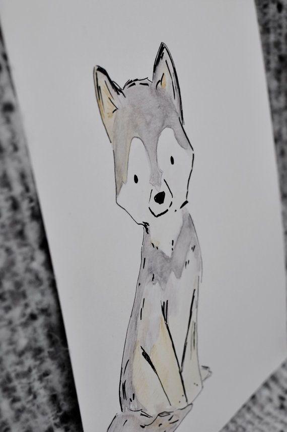vlk kresba