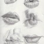 ako kresliť pery