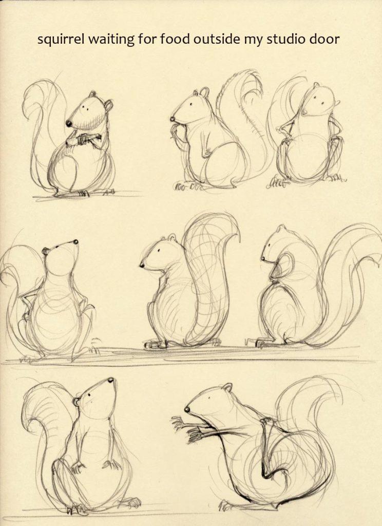 kreslena vevericka