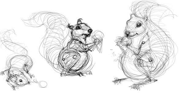 ako kreslit vevericku