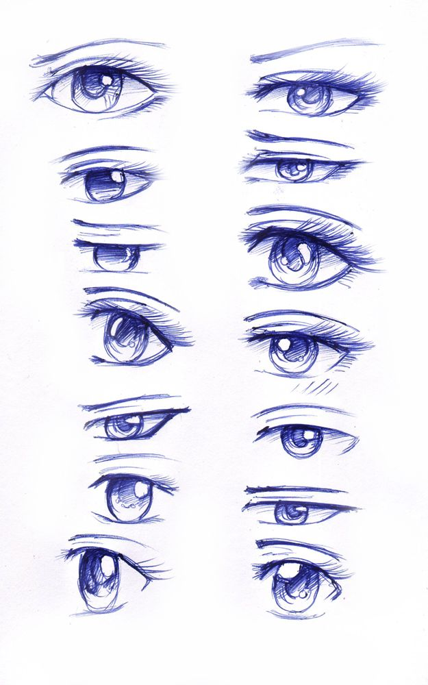 manga eyes step by step