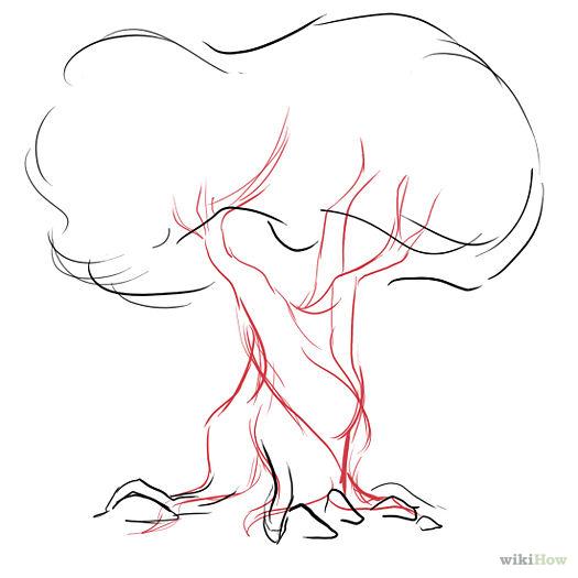 postup kreslenia stromu navod