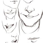 how to draw manga mouth