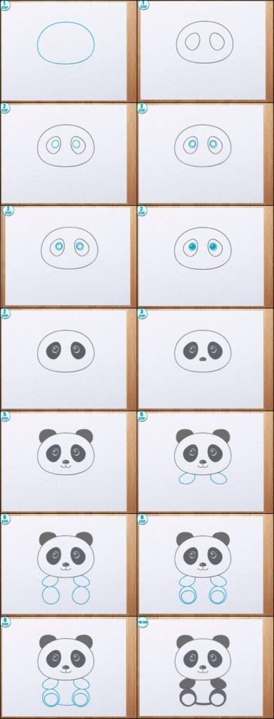 kreslena panda navod