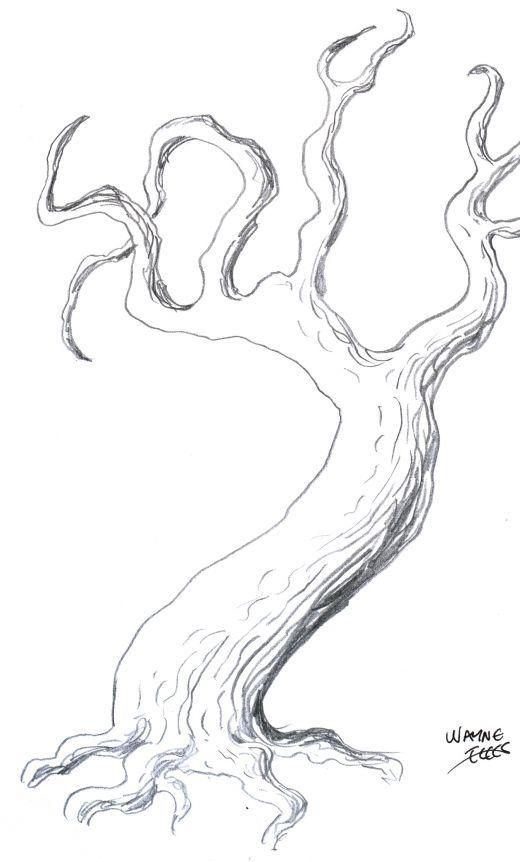 ako kreslit stromy