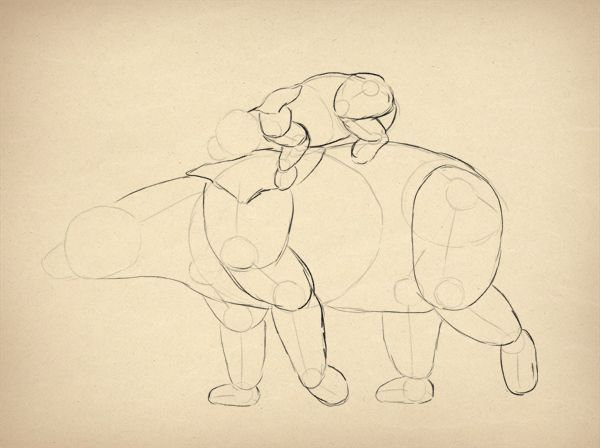 ako kreslit pandu