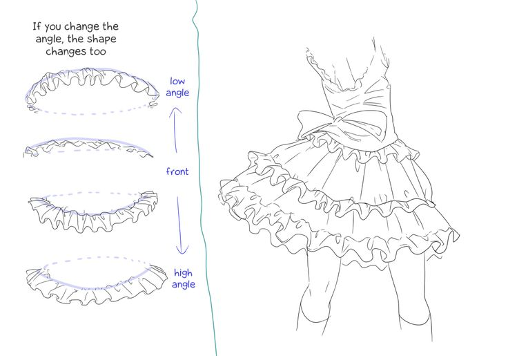 how to draw skirt